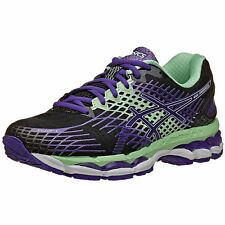 NEW ASICS GEL - NIMBUS 17 RUNNING SHOES T557N-9935 TRAINERS VIOLET BLACK GREEN