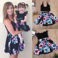 Family Mother Daughter Match Kids Girl Women Lace Dress Clothes Outfit Top Skirt