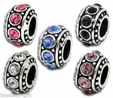 Wholesale Lots Gift Mixed Rhinestone Spacer Beads Fit Charm Bracelet 11mm