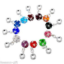 Wholesale Lots Gifts Mixed(10Colors) Dangle Beads Fit Charm Bracelet
