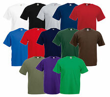 5 FRUIT OF THE LOOM MEN'S T-SHIRT VALUEWEIGHT SET VARIOUS COLORS S - 5XL NEW