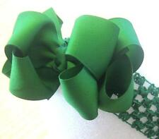 Girls Hairbows, Baby Hair Bows, Glitter Bows, Boutique Bows, Emerald Green Bow