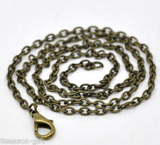 """Wholesale Lots Gift Bronze Tone Lobster Clasp Link Chain Necklaces 18"""" B12720"""