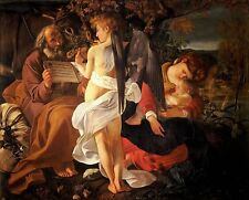 Caravaggio Rest On the Flight into Egypt Oil Painting Canvas Print