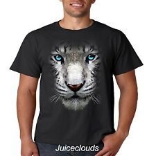 White Tiger T Shirt Big Tiger Face Wild Big Cat Mountain Men's Tee