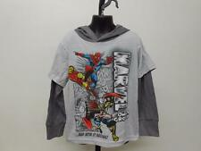 New Marvel Ironman Thor Spiderman Youth Sizes M-L-XL Hooded Shirt
