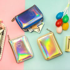 2017 Newest Womens Holographic Waterproof Wallet Clutch Bag Small Purse 3 Colors