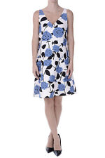 LES COPAINS New Woman Cotton Blend Floral Sleeveless Flared A-line Dress NWT