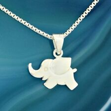 Elephant Baby Pendant Sterling Silver Cute Charm Necklace Box Chain Jewelry Gift