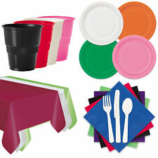 Solid Party Tableware 15pc Pack for 12 Graduation School Colors