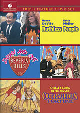 Ruthless People/Down and Out in Beverly Hills/Outrageous Fortune (DVD, 2010, 3-D