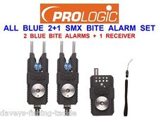 PROLOGIC ALL BLUE SMX 2+1 BITE ALARM SET KIT FOR CARP FISHING ROD POD BUZZ BARS