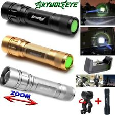 15000LM 3 Modes Flashlight CREE XML T6 LED 18650 Zoomable Torch Camp Lamp Light