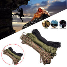 550 Paracord Parachute Cord Lanyard Rope 100FT 7 Core Strand Survival Outdoor