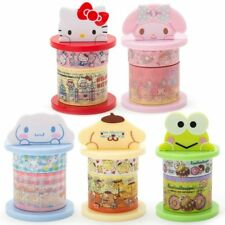 JAPAN SANRIO KITTY CINNAMOROLL DISPENSER WITH 2 ROLL TRANSPARENT TAPE STICKERS