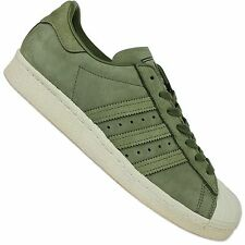 ADIDAS ORIGINALS SUPERSTAR 80s Suede by2506 Trainers Shoes Suede Khaki Green