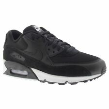 Nike Air Max 90 Essential Black White Mens Mesh Suede Air Sole Trainers Sneakers
