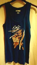 Dale Earnhardt Jr 88 Womens Tank Top Silver Foil Graphic NASCAR Blue M, L, XL