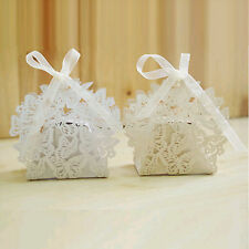 20-100 Laser Cut Hollow Butterfly Wedding Favor Candy Boxes Birthday Gifts Boxes