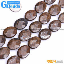"""Natural Bronzite Jasper Oval Faceted Beads For Jewelry Making Free Shipping 15"""""""