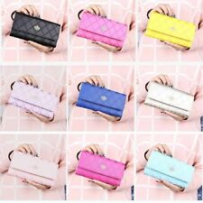 9 Colors Sweet Style Womens Long Purses Handbags Crown PU Leather Wallets Cards