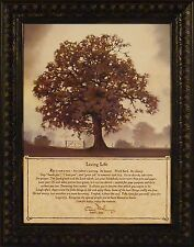 LIVING LIFE by Bonnie Mohr 16x20 Framed Print Picture Inspirational Quote TREE