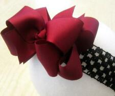 Maroon Boutique Doouble Layer Hair Bow Baby Girls Clip