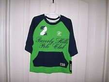 BEVERLY HILLS POLO CLUB BOYS GREEN & NAVY BLUE TOP SIZE 4,5/6,7 RETAIL $22