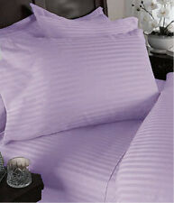 300TC Egyptian Cotton 1pc FITTED SHEET Lavender Stripe