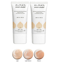 LOT OF 2 Almay Smart Shade Skintone Matching Makeup SPF 15 Foundation