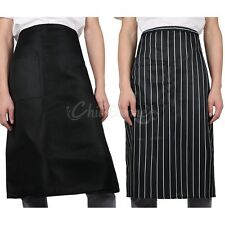 Black Kitchen Cooking Convenient Pocket Apron home restaurant Waist Short Apron