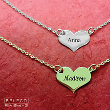 Custom Heart Necklace Customize Pendant Personalized Name Necklace Heart Jewelry