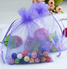 """100Pcs Organza Bags 4""""x 6"""" Drawstring Organza Pouches for Jewelry Wedding Party"""