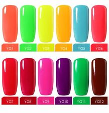 BELLE FILLE 10ml Nail Art Soak Off Neon Color Gel Polish Manicure DIY UV LED