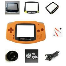 NEW GBA Nintendo Game Boy Advance Replacement Housing Shell Screen Lens Orange!