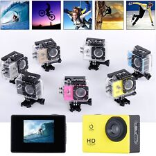 HD 1080P Waterpoof Sports DV  Dash Cam Helmet Action Bike Video Recorder Camera