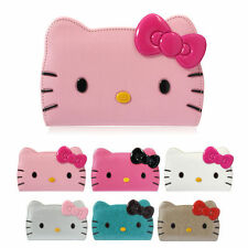 Hello Kitty Face Leather Protect Card Slot Strap Wallet Cover Case For LG G4