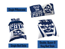 Geelong Cats AFL Pillow Quilt Cover Set: Single, Double, Queen & King Bed