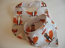 Baby Boy Bib/Burp Cloth Gift Set/Create Your Own/ Foxes/Baby Shower Gift