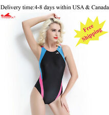 Yingfa 976-2 one piece racing and training swimsuit for women Free shipping