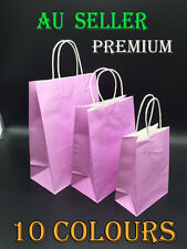 Bulk Lot Kraft Paper Bag Carry Shopping Bags Wedding Party Gift Bags 3 Sizes AU