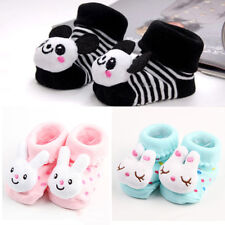 1 Pair Lovely Newborn Baby Girl Boy Cartoon Anti-slip Socks Slipper Shoes POP