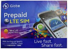 GLOBE ROAMING Prepaid SIM Card Philippines Mini Micro Nano 4G LTE with LOAD