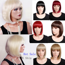 13 Inches Ladies Full Wig Bob Hair Style Costume Fancy Daily Dress Red Black bDS