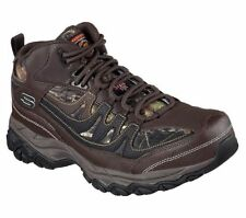 77108 Camouflage Brown Skechers Shoes Work Mens Leather Steel Toe Hiker Boot New
