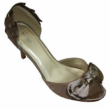 Ladies Womens Barratts Bow Peep Toe High Heels Party Wedding Shoes Sandals Size