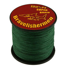 Deep Green New Super Power Braided Fishing Line (330yds- 1100yds) SELECT Testing