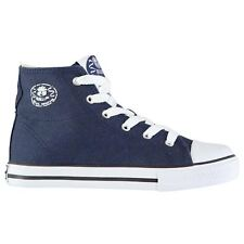 Dunlop Canvas High Top Trainers Juniors Navy Sneakers Shoes Footwear
