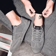 Hot Mens Fashion Lace-up Faux Leather Comfy Casual Shoes Korea Style Skate Shoes