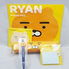 Kakao Friends Ryan Stationary Set Mouse Pad Pen Pouch Index Memo Pad Gel Pen